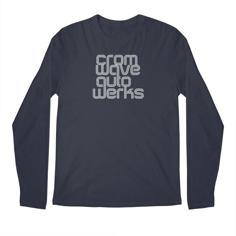 Cromwave Classic White Men's Regular Longsleeve T-Shirt by Cromwave Autowerks