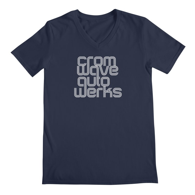 Cromwave Classic White Men's Regular V-Neck by Cromwave Autowerks
