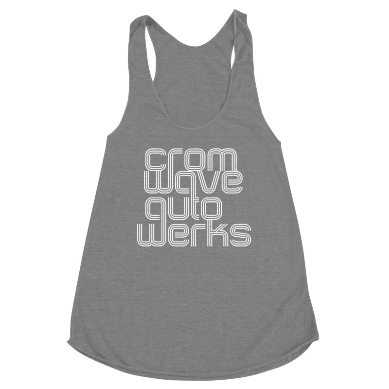 Cromwave Classic White Women's Racerback Triblend Tank by Cromwave Autowerks