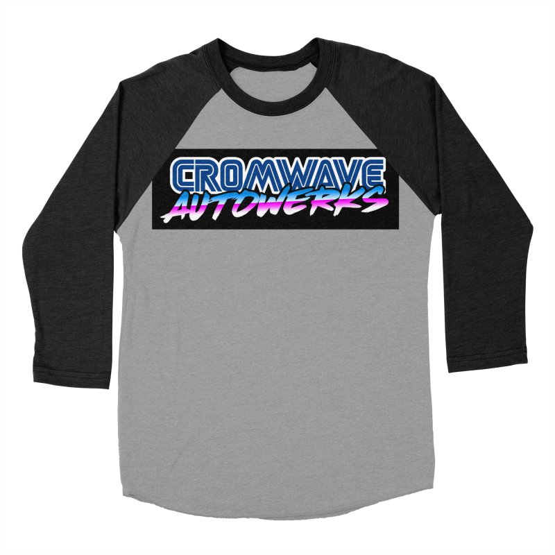 Cromwave Autowrite Men's Baseball Triblend Longsleeve T-Shirt by Cromwave Autowerks