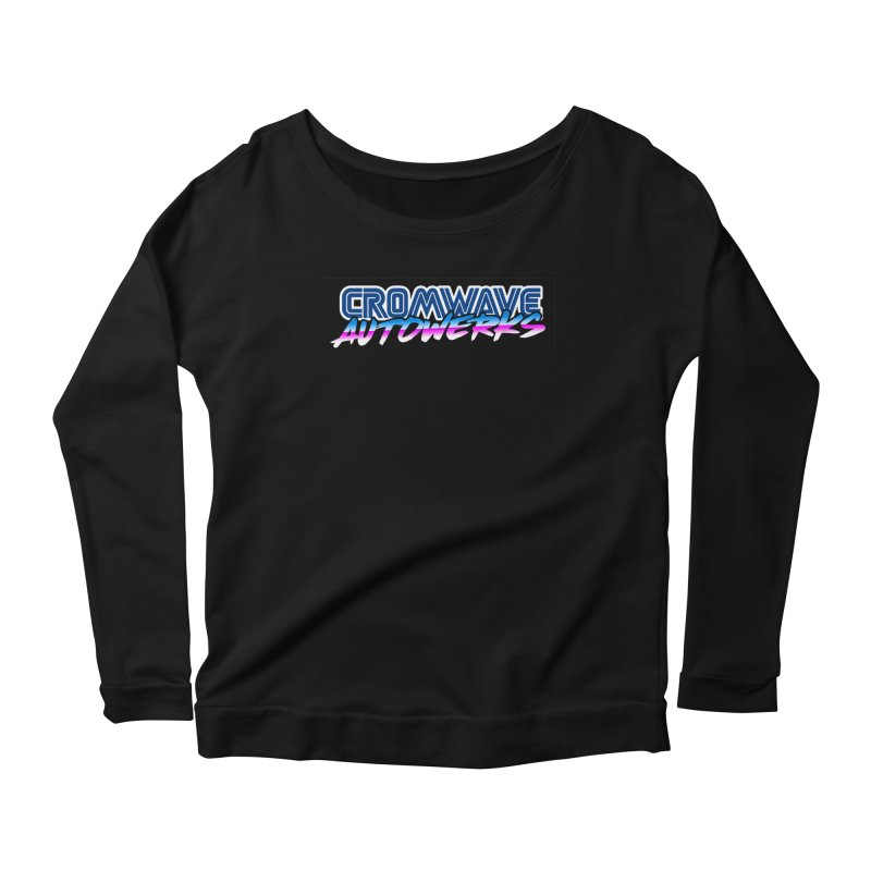 Cromwave Autowrite Women's Scoop Neck Longsleeve T-Shirt by Cromwave Autowerks