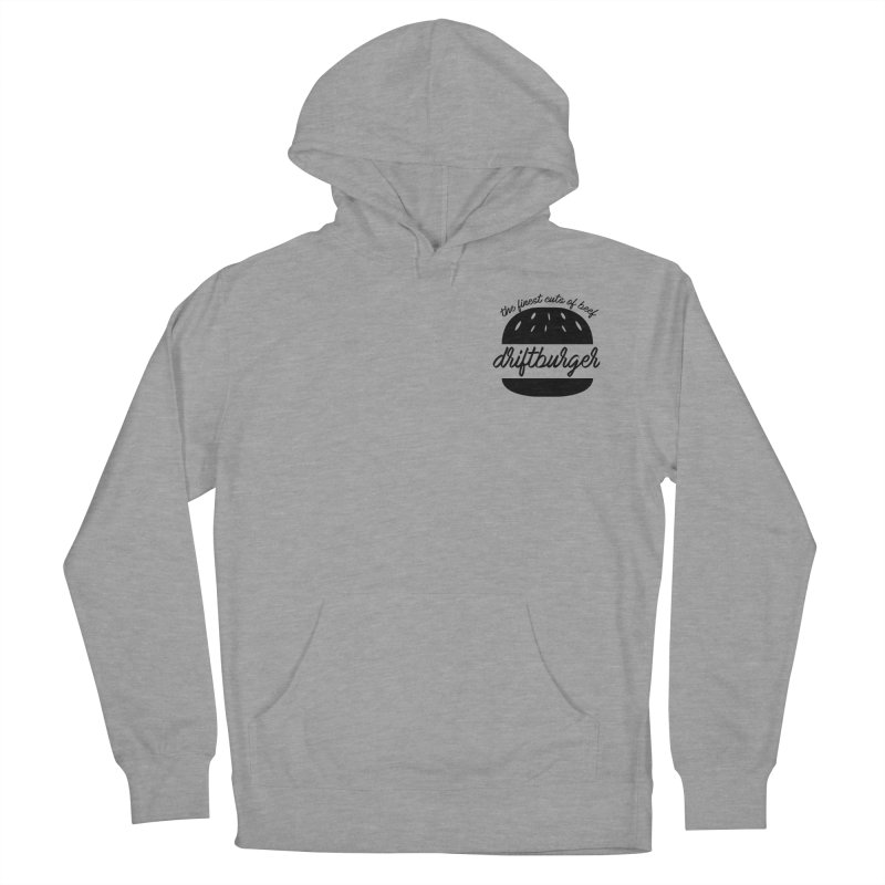 The Finest Cuts - Driftburger Black Women's French Terry Pullover Hoody by Cromwave Autowerks