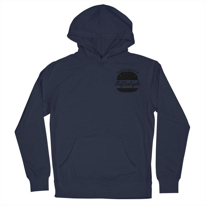 The Finest Cuts - Driftburger Black Men's French Terry Pullover Hoody by Cromwave Autowerks