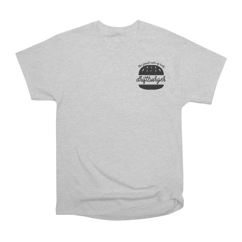 The Finest Cuts - Driftburger Black Men's Heavyweight T-Shirt by Cromwave Autowerks