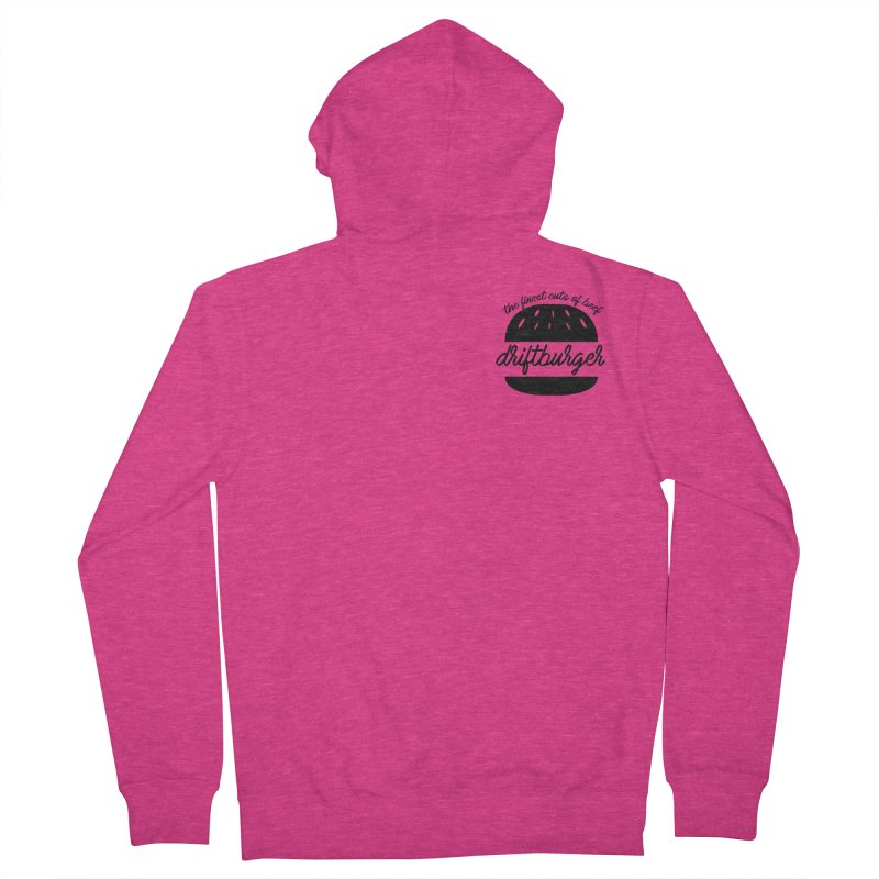 The Finest Cuts - Driftburger Black Women's French Terry Zip-Up Hoody by Cromwave Autowerks