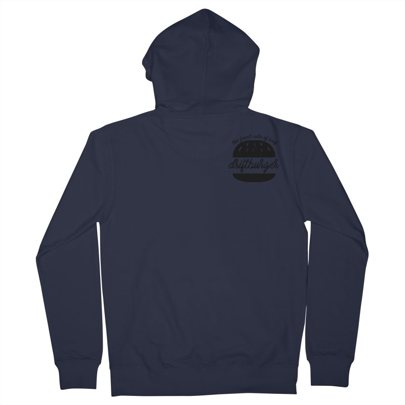 The Finest Cuts - Driftburger Black Men's French Terry Zip-Up Hoody by Cromwave Autowerks