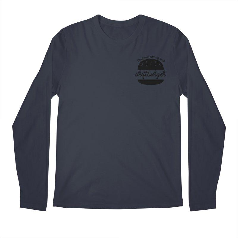 The Finest Cuts - Driftburger Black Men's Longsleeve T-Shirt by Cromwave Autowerks