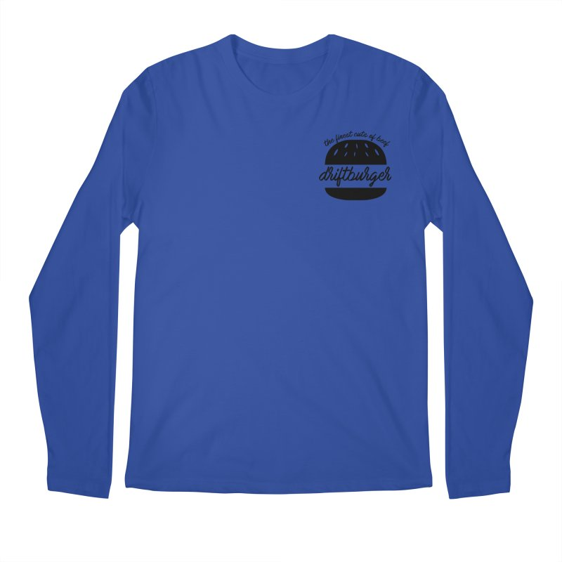 The Finest Cuts - Driftburger Black Men's Regular Longsleeve T-Shirt by Cromwave Autowerks