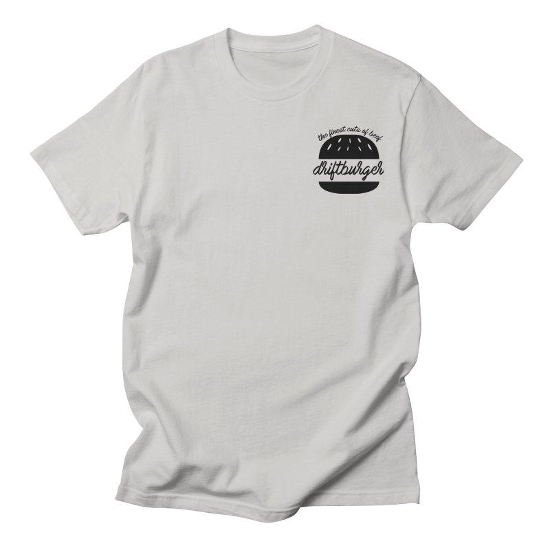 The Finest Cuts - Driftburger Black Men's T-Shirt by Cromwave Autowerks