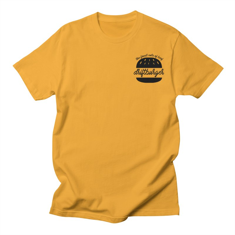 The Finest Cuts - Driftburger Black Men's T-Shirt by Cromwave Autowerks