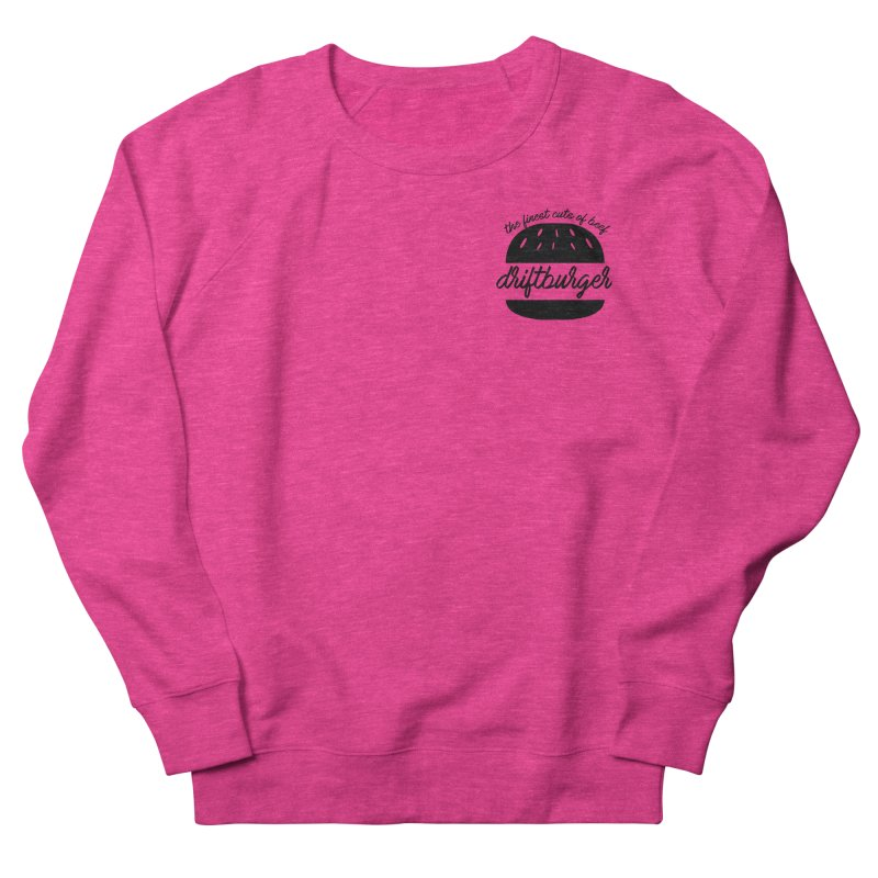The Finest Cuts - Driftburger Black Women's French Terry Sweatshirt by Cromwave Autowerks
