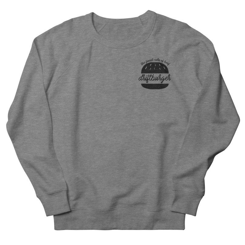 The Finest Cuts - Driftburger Black Men's Sweatshirt by Cromwave Autowerks