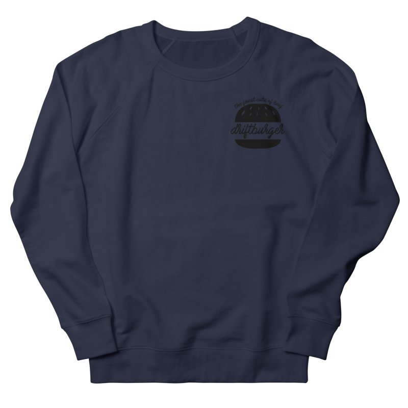 The Finest Cuts - Driftburger Black Men's Sweatshirt by Cromwave Autowerks