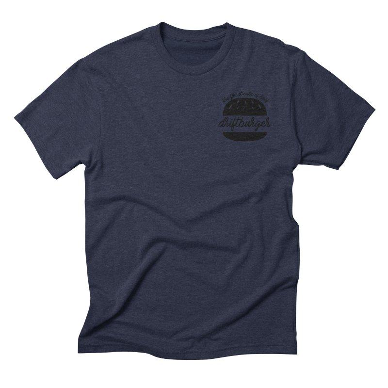The Finest Cuts - Driftburger Black Men's Triblend T-Shirt by Cromwave Autowerks