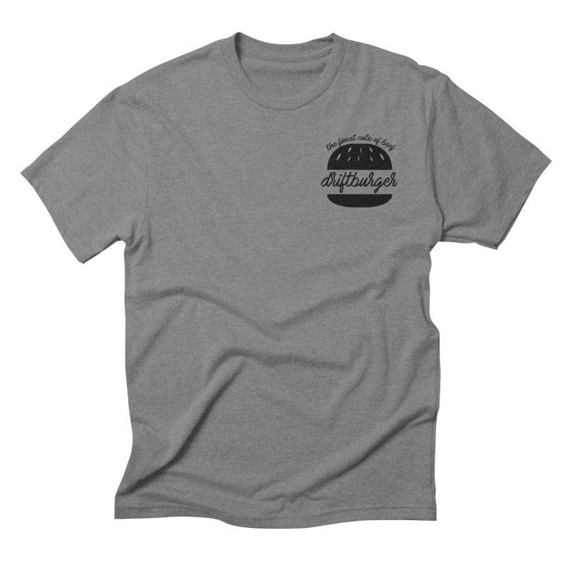 The Finest Cuts - Driftburger Black Men's Triblend T-Shirt by Cromwave Autowerks