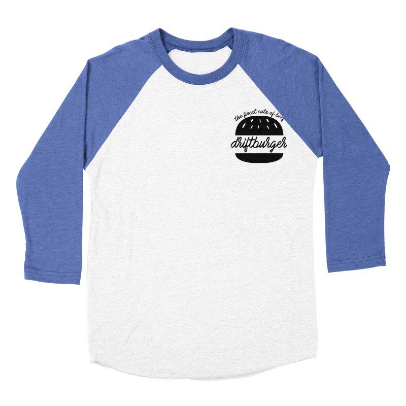 The Finest Cuts - Driftburger Black Women's Baseball Triblend Longsleeve T-Shirt by Cromwave Autowerks