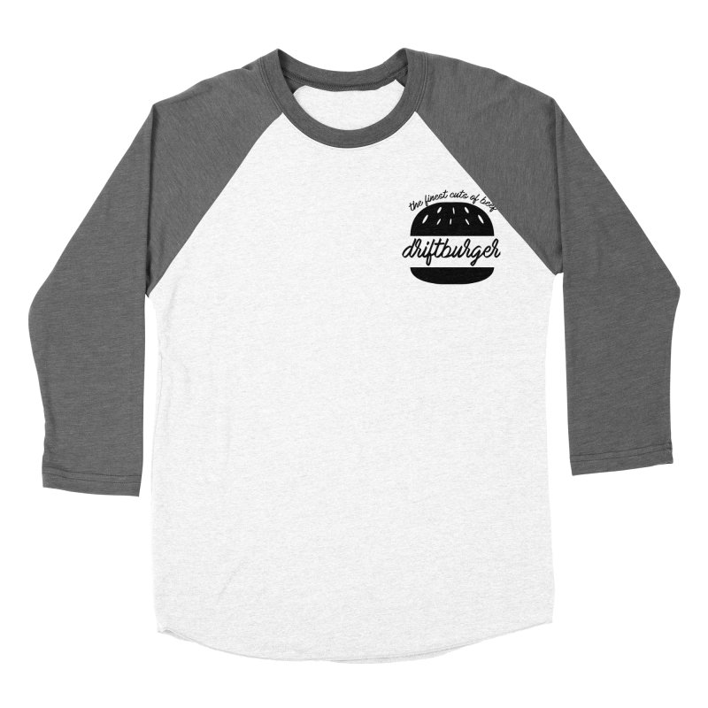 The Finest Cuts - Driftburger Black Men's Baseball Triblend Longsleeve T-Shirt by Cromwave Autowerks