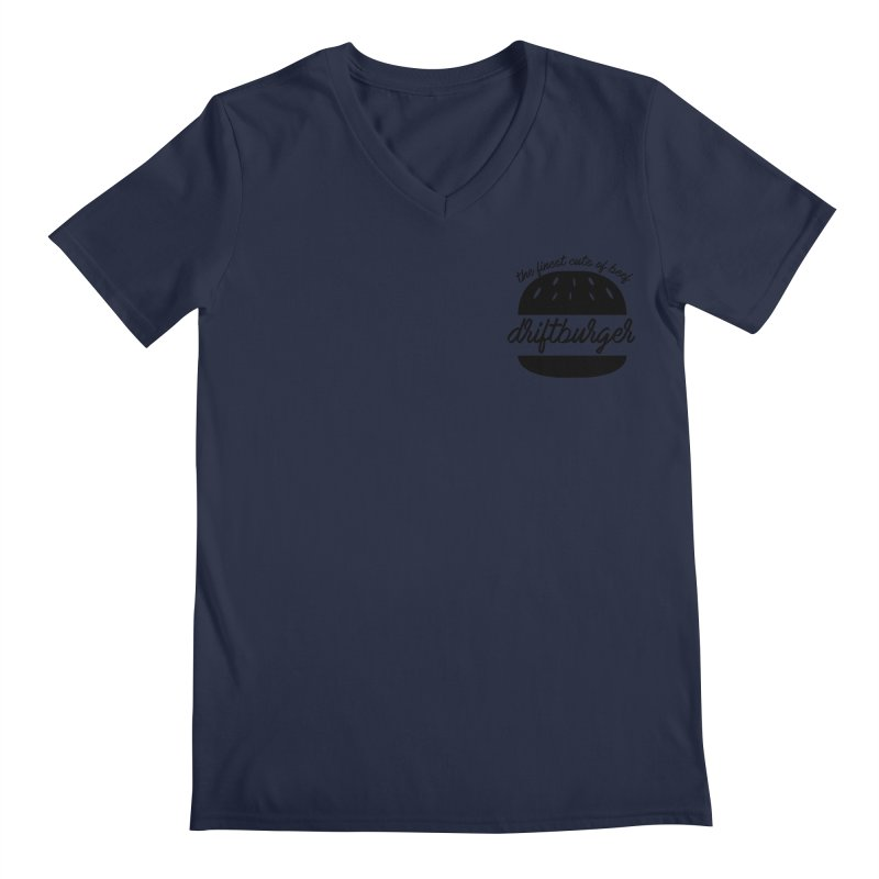 The Finest Cuts - Driftburger Black Men's V-Neck by Cromwave Autowerks