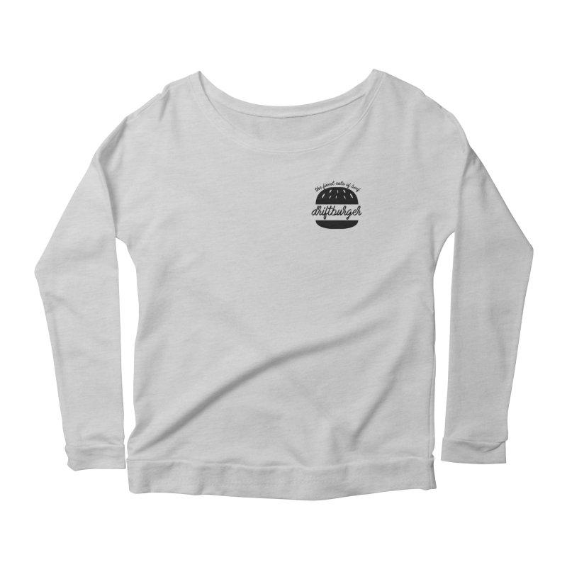 The Finest Cuts - Driftburger Black Women's Scoop Neck Longsleeve T-Shirt by Cromwave Autowerks