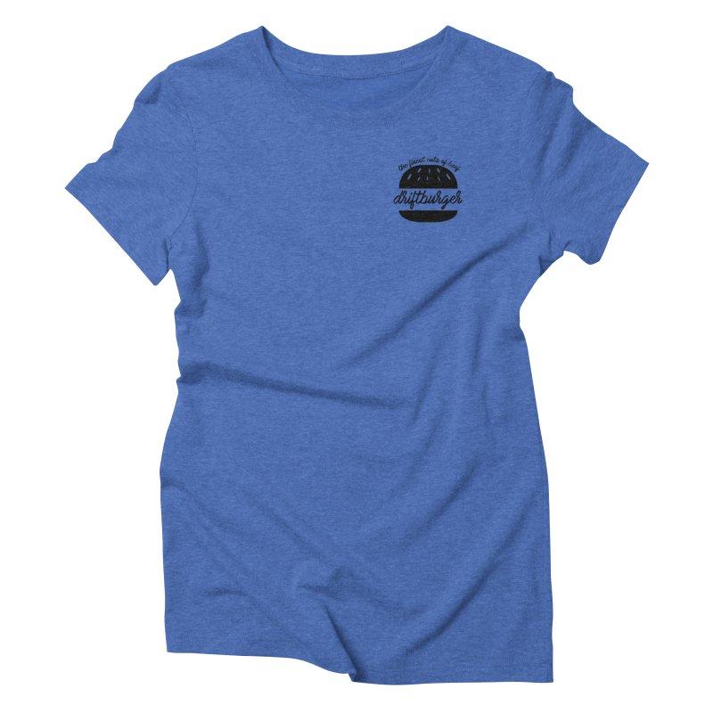 The Finest Cuts - Driftburger Black Women's Triblend T-Shirt by Cromwave Autowerks