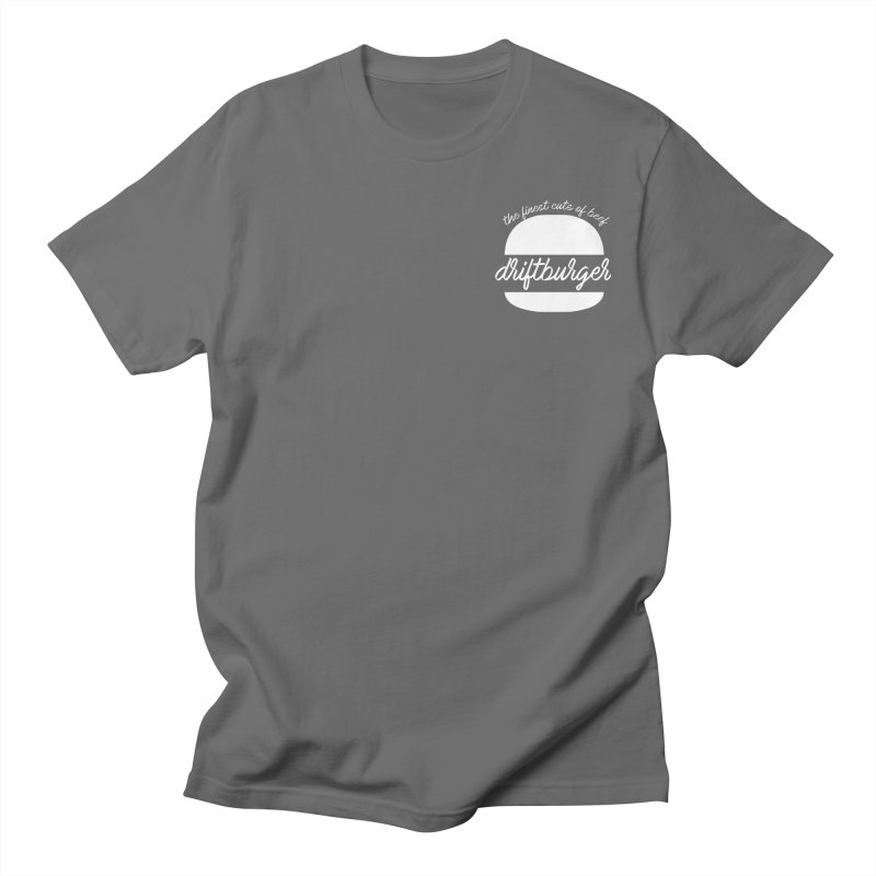 Finest Cuts - Driftburger White Men's T-Shirt by Cromwave Autowerks