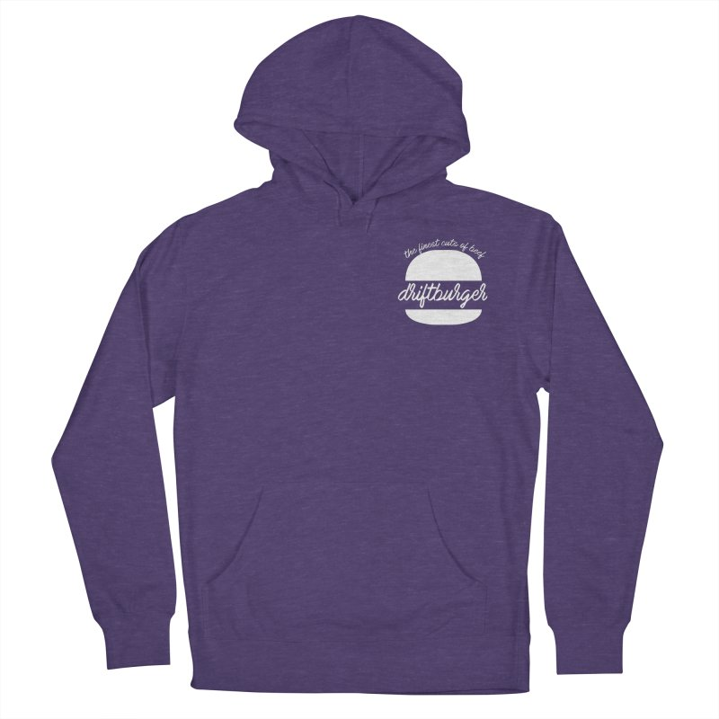 Finest Cuts - Driftburger White Women's French Terry Pullover Hoody by Cromwave Autowerks