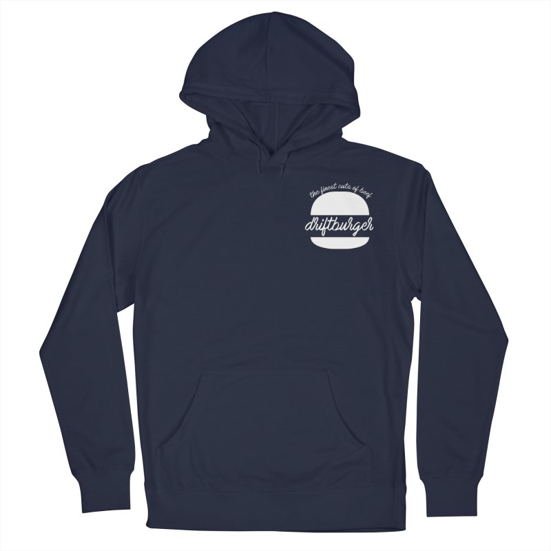 Finest Cuts - Driftburger White Men's French Terry Pullover Hoody by Cromwave Autowerks