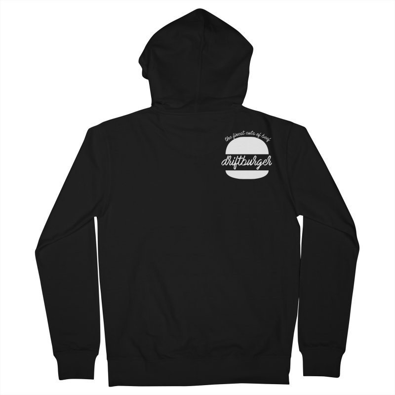 Finest Cuts - Driftburger White Women's French Terry Zip-Up Hoody by Cromwave Autowerks