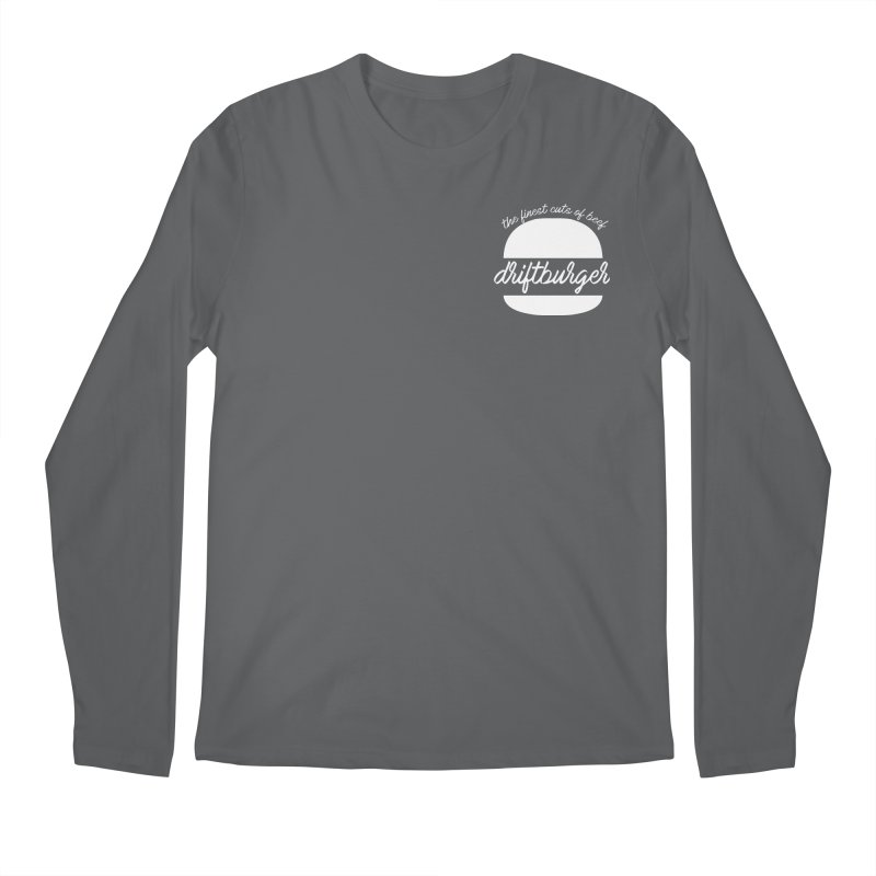 Finest Cuts - Driftburger White Men's Longsleeve T-Shirt by Cromwave Autowerks
