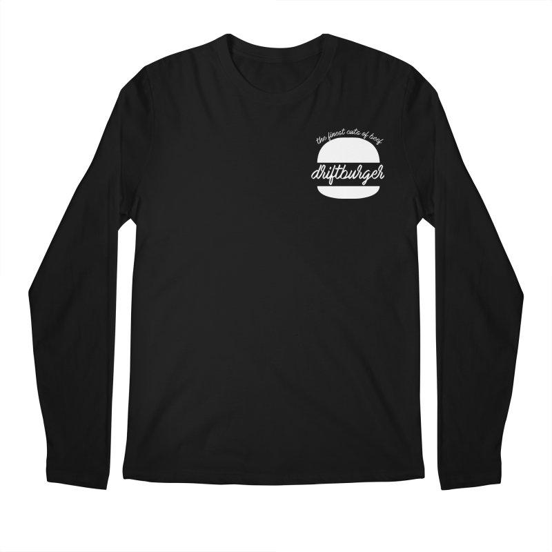 Finest Cuts - Driftburger White Men's Longsleeve T-Shirt by Cromwave Autowerks