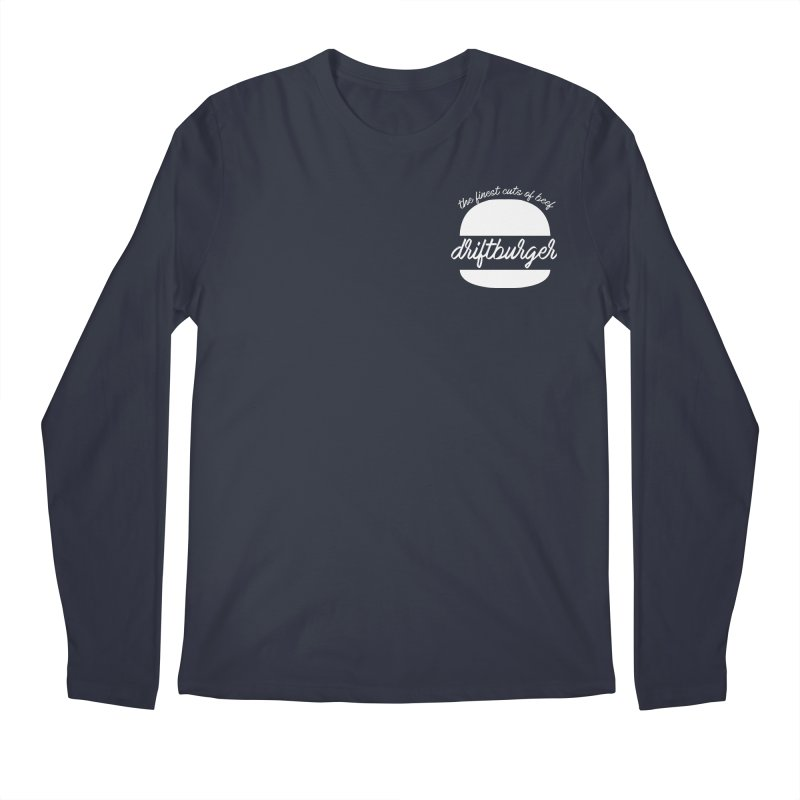 Finest Cuts - Driftburger White Men's Regular Longsleeve T-Shirt by Cromwave Autowerks