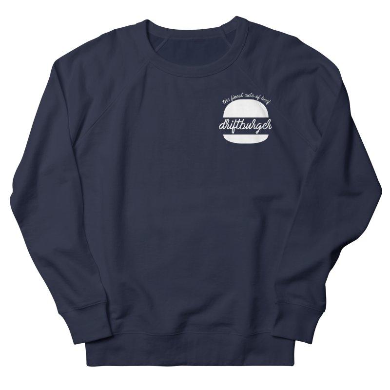 Finest Cuts - Driftburger White Women's French Terry Sweatshirt by Cromwave Autowerks