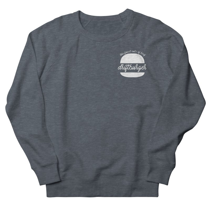 Finest Cuts - Driftburger White Men's French Terry Sweatshirt by Cromwave Autowerks