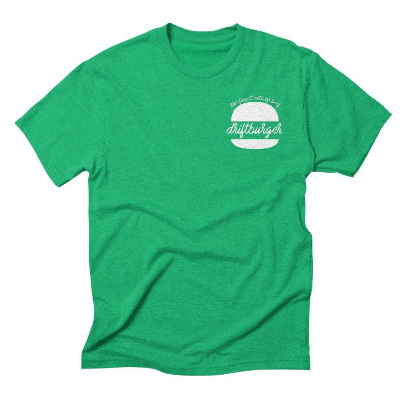 Finest Cuts - Driftburger White Men's Triblend T-Shirt by Cromwave Autowerks
