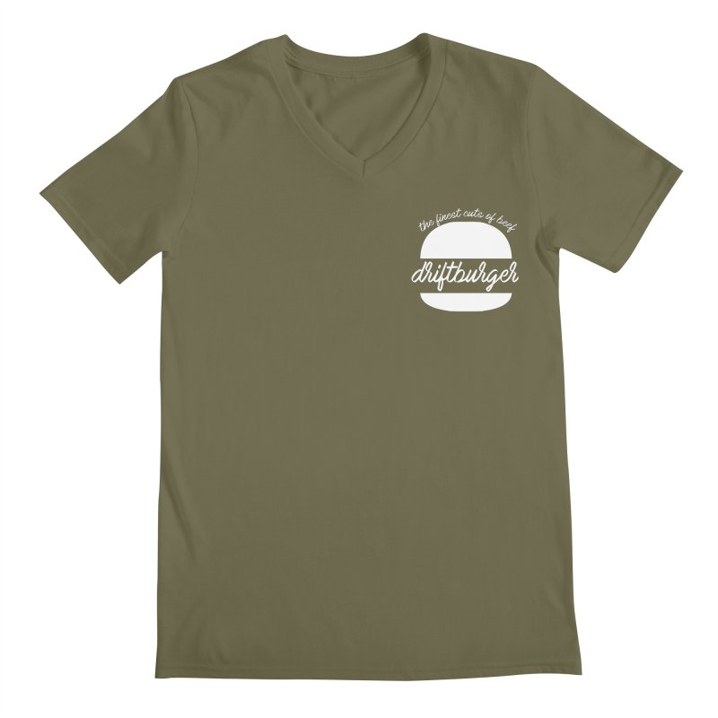 Finest Cuts - Driftburger White Men's Regular V-Neck by Cromwave Autowerks