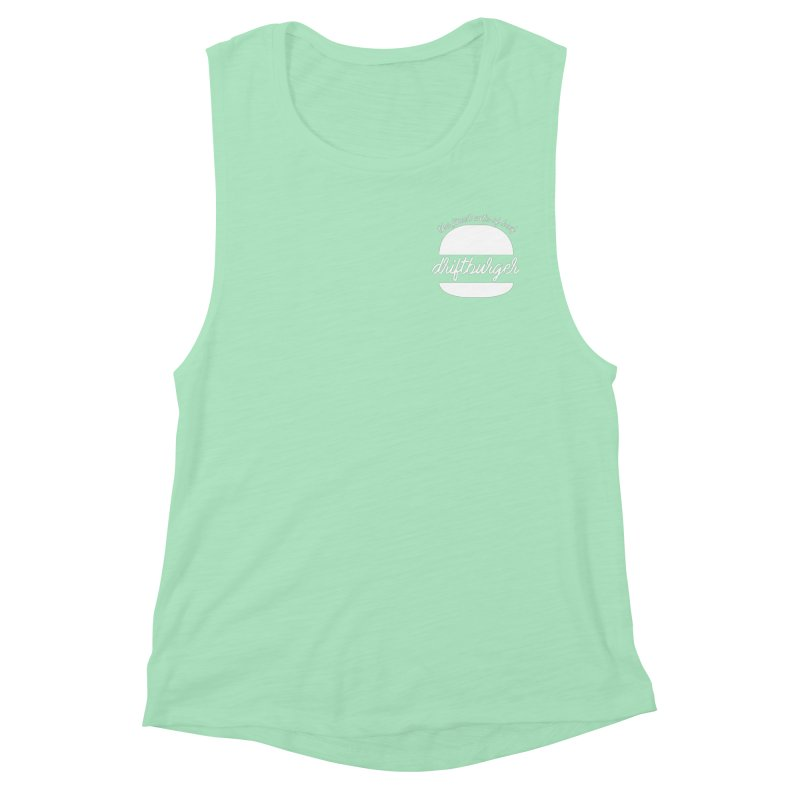 Finest Cuts - Driftburger White Women's Muscle Tank by Cromwave Autowerks