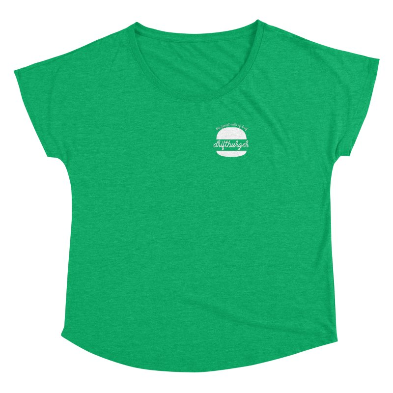 Finest Cuts - Driftburger White Women's Dolman Scoop Neck by Cromwave Autowerks