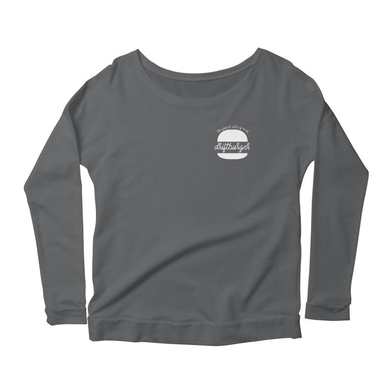 Finest Cuts - Driftburger White Women's Scoop Neck Longsleeve T-Shirt by Cromwave Autowerks
