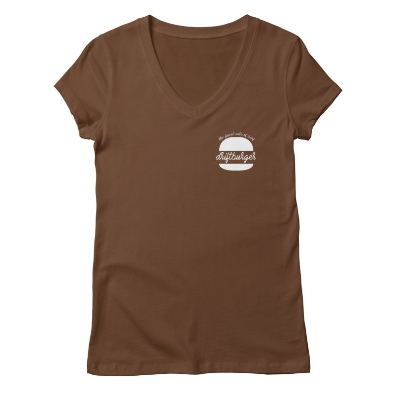 Finest Cuts - Driftburger White Women's Regular V-Neck by Cromwave Autowerks