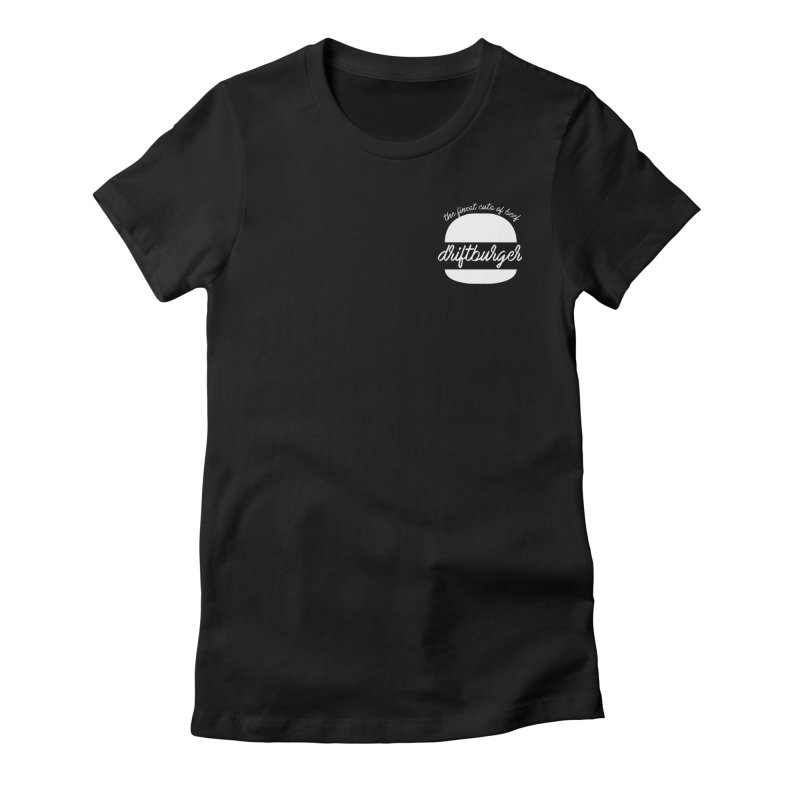 Finest Cuts - Driftburger White Women's Fitted T-Shirt by Cromwave Autowerks