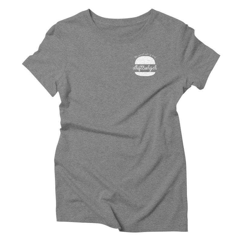 Finest Cuts - Driftburger White Women's Triblend T-Shirt by Cromwave Autowerks