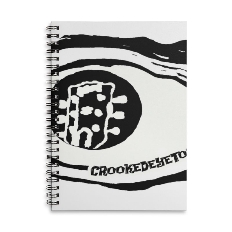 The Eye Accessories Lined Spiral Notebook by Crooked Eye Swag Shop