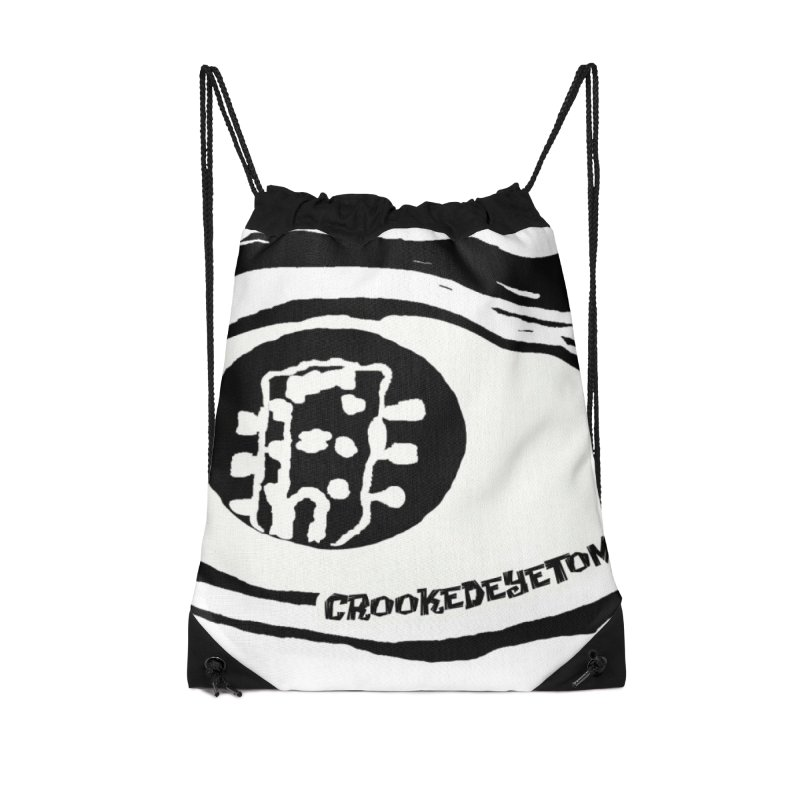 The Eye Accessories Drawstring Bag Bag by Crooked Eye Swag Shop