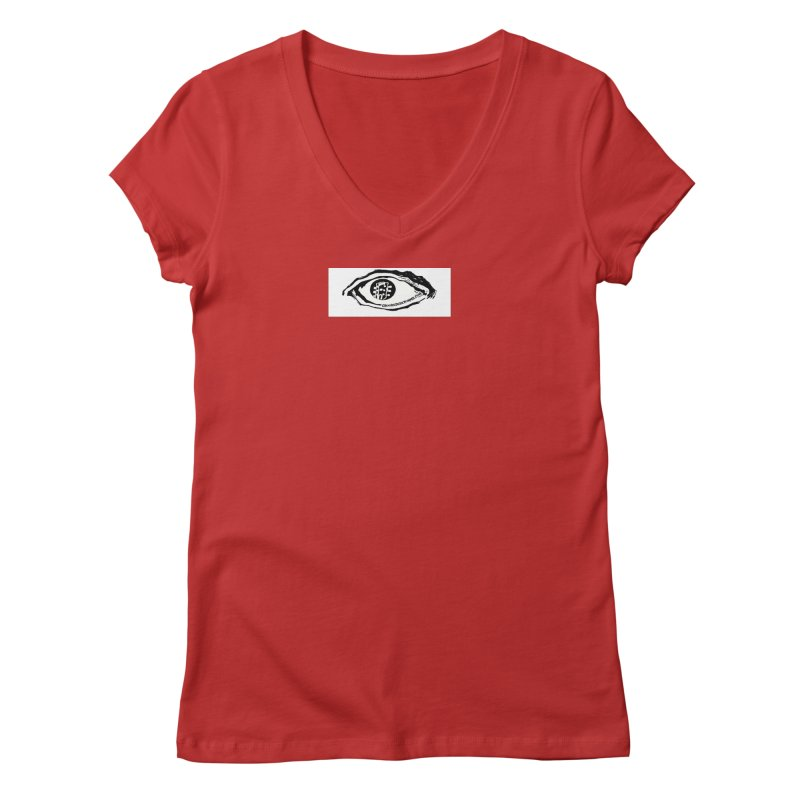 The Eye Women's Regular V-Neck by Crooked Eye Swag Shop