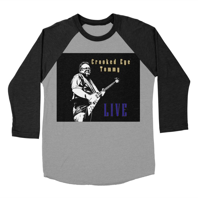 CET LIVE Men's Baseball Triblend Longsleeve T-Shirt by Crooked Eye Swag Shop