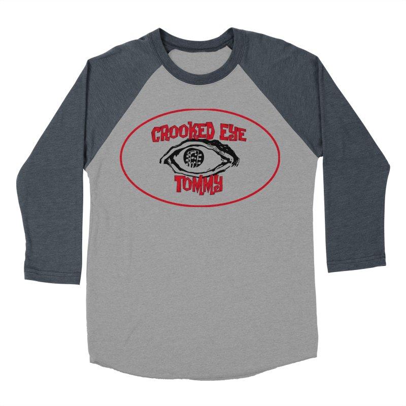 Floating CET Logo PNG Men's Baseball Triblend Longsleeve T-Shirt by Crooked Eye Swag Shop