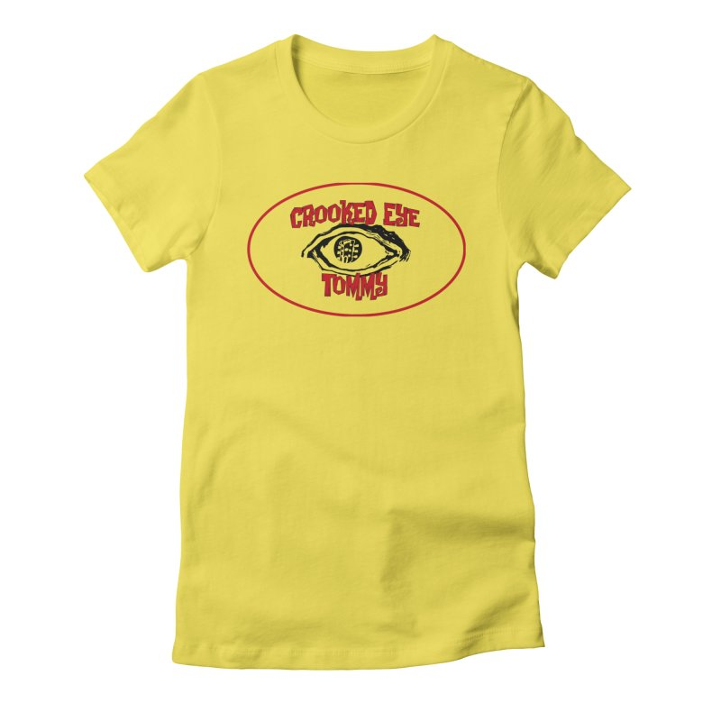 Floating CET Logo PNG Women's Fitted T-Shirt by Crooked Eye Swag Shop