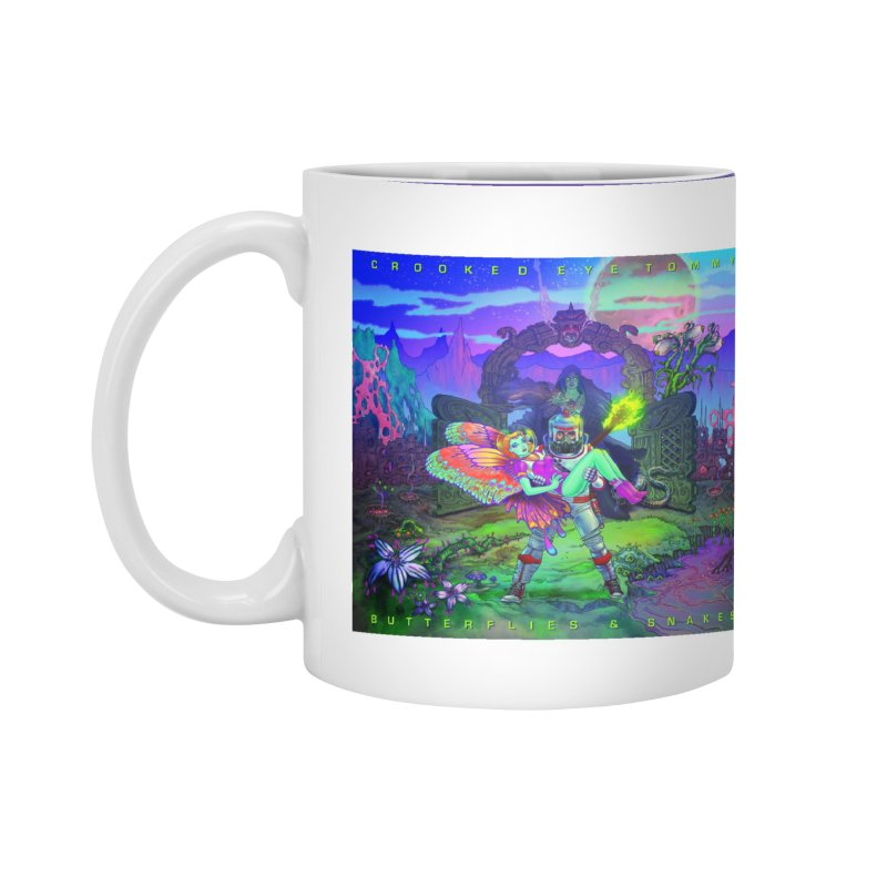 Butterflies & Snakes Cover Accessories Mug by Crooked Eye Swag Shop