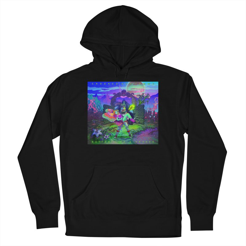 Butterflies & Snakes Cover Women's Pullover Hoody by Crooked Eye Swag Shop