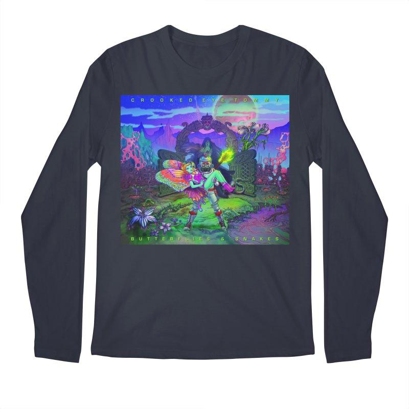Butterflies & Snakes Cover Men's Regular Longsleeve T-Shirt by Crooked Eye Swag Shop